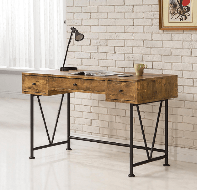7-antique nutmeg writing desk-min