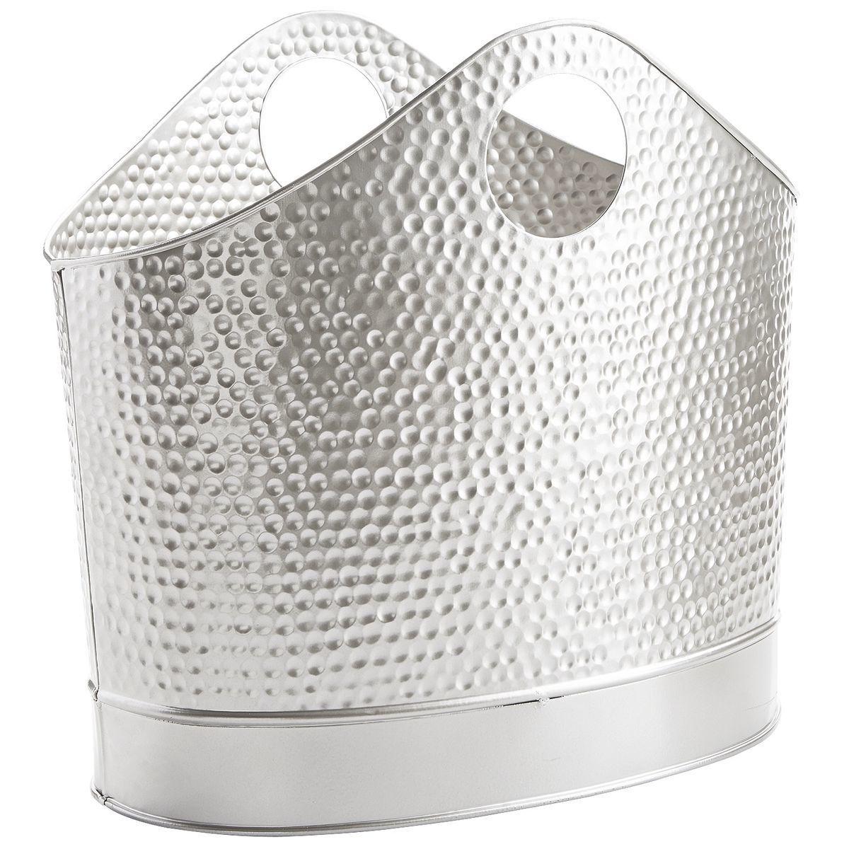 1-pier1 silver magazine holder