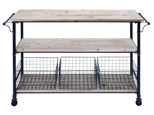 If You Have The Luxury Of Space In Your Laundry Room Then Adding This  Industrial Metal And Wood 3 Basket Utility Cart Is A Match ...