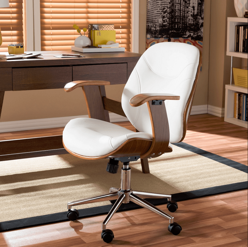 office chairs baxton studio rathburn walnut modern office chair min