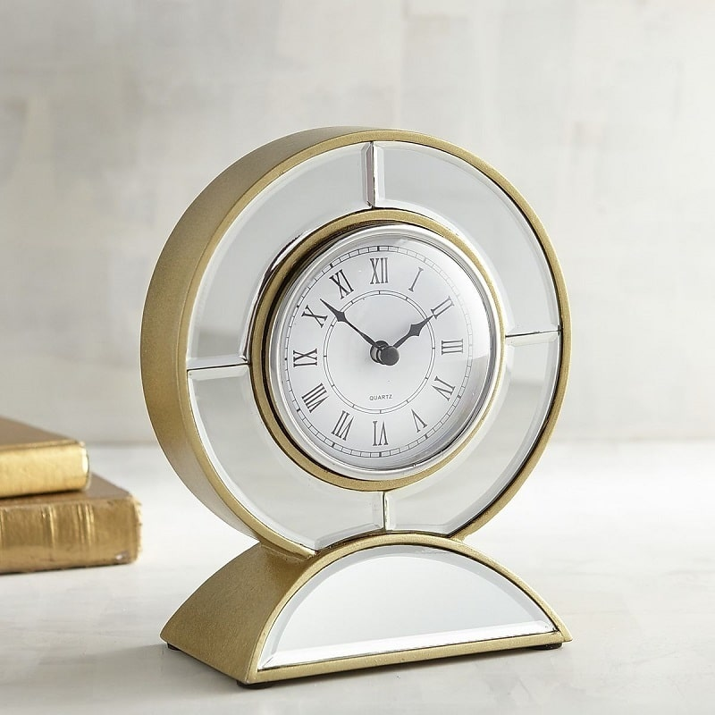 20-gold desk clock-pier1