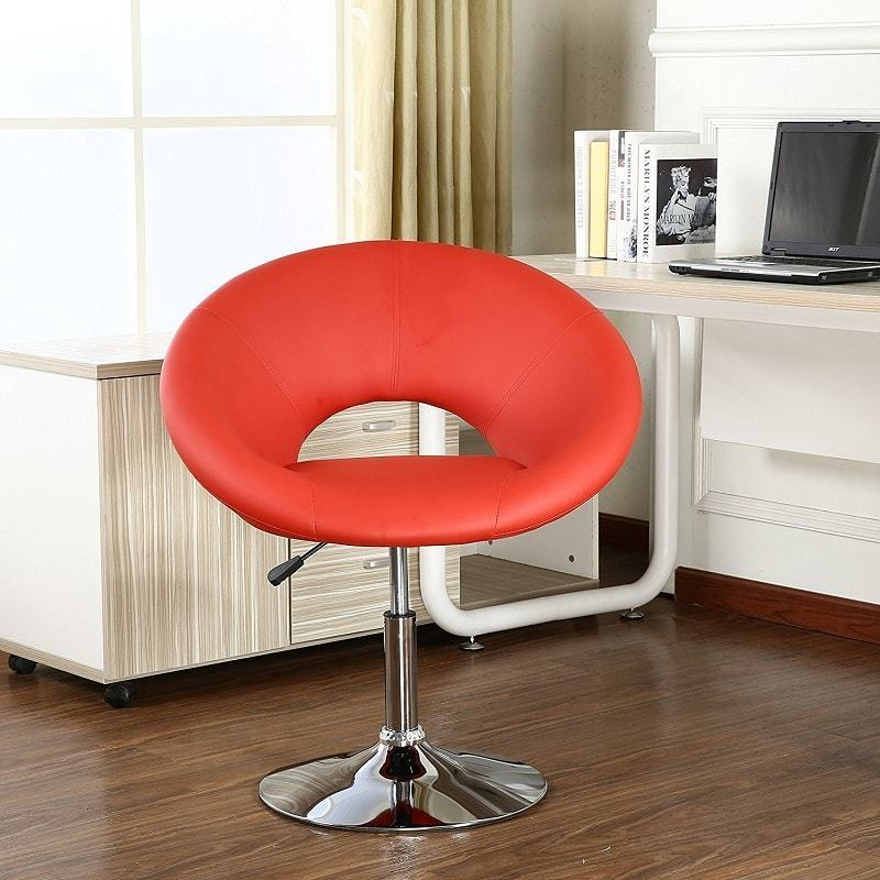 7-office-chairs-roundhill-chrome-red-chair-min