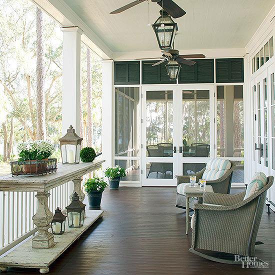 patio with lighting