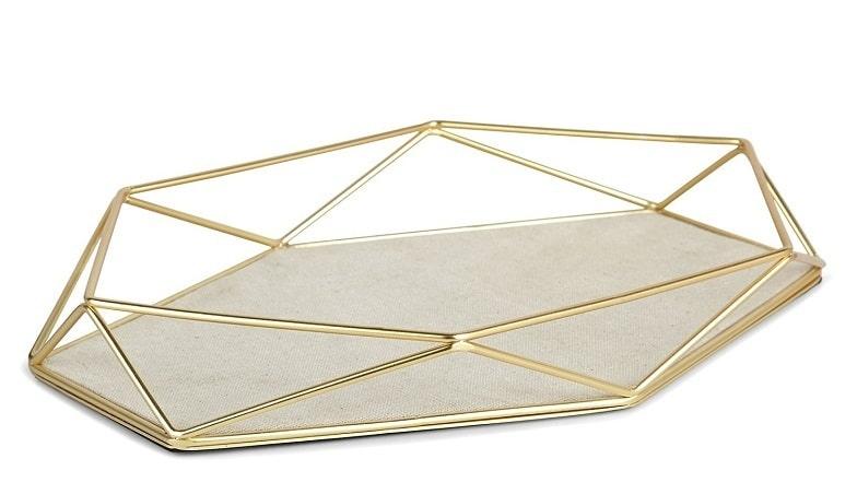 2-prisma gold trinket tray
