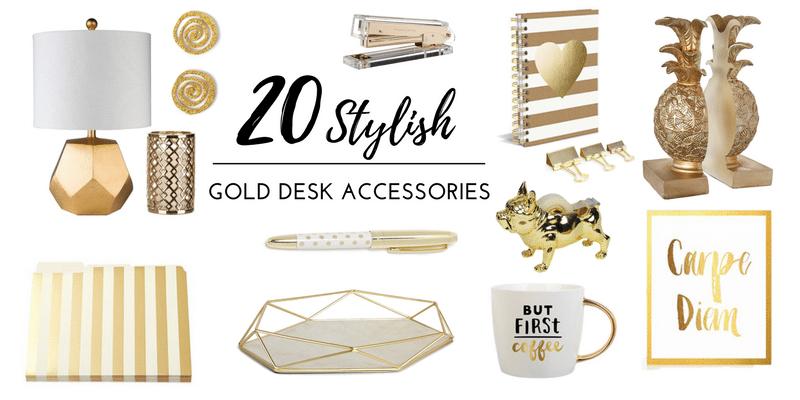 20 stylish gold desk accessories_blog