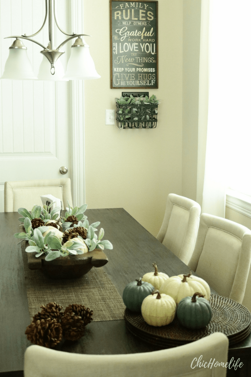 chichomelife-fall centerpiece