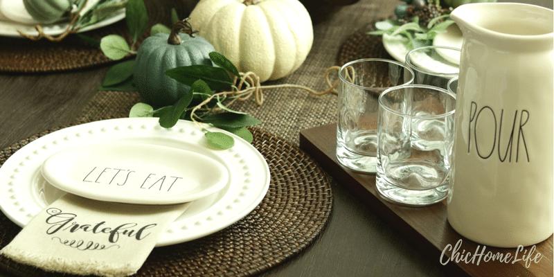fall tablescape-plate-pour