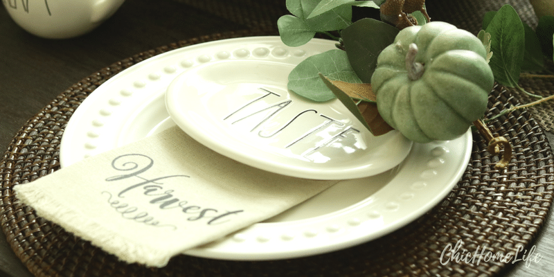 fall tablescape-plate