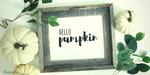 "Simple ""Hello Pumpkin"" DIY Wall Art Project"
