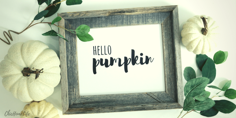 diy hello pumpkin sign - 1