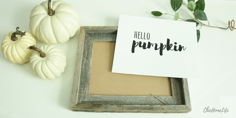 diy hello pumpkin sign - 3