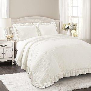 Lush Decor Harmony 5 Piece King Comforter Set White