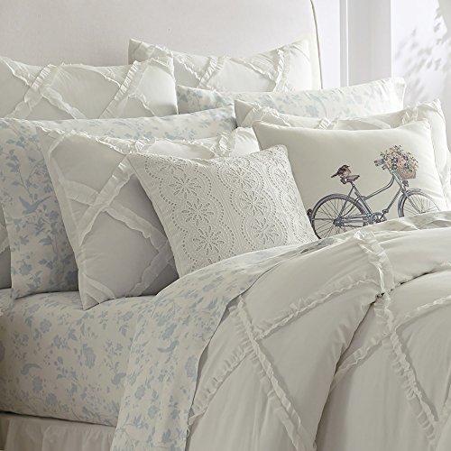 Comforter Sets Queen Ashley: Laura Ashley Adelina Ruffle Comforter Set, Full/Queen, White