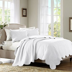 Lush Decor Reyna 3 Piece Comforter Set King White Chic
