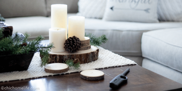 winter decor-family room
