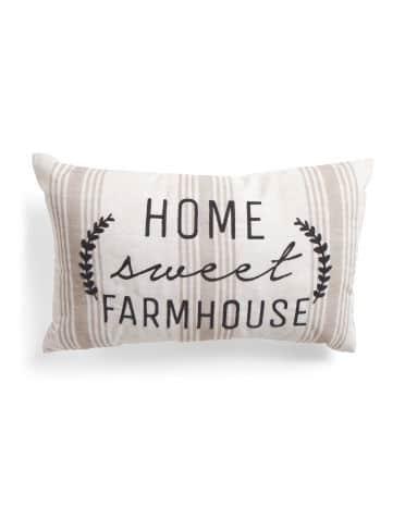 14x24 Indoor Outdoor Farmhouse Pillow