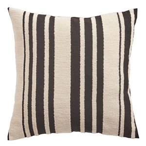 Farmhouse Basic Striped Black Pillow