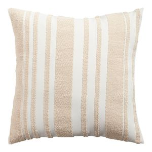 Farmhouse Basic Striped Natural Pillow