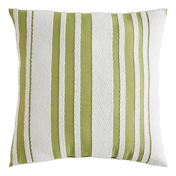 Farmhouse Fern Striped Pillow