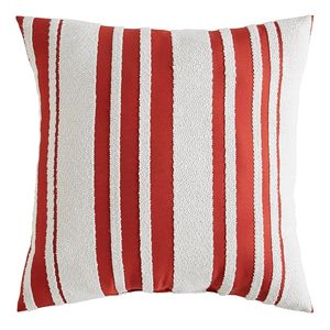 Farmhouse Red Striped Pillow