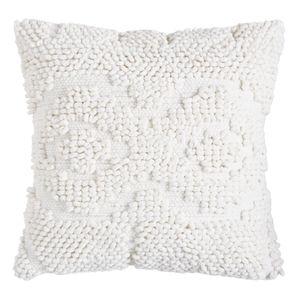 Textural Woven White Pillow