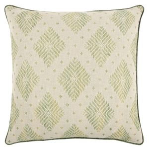 Woven Diamond Lime Pillow Cover
