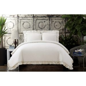 Voile White Comforter & Sham