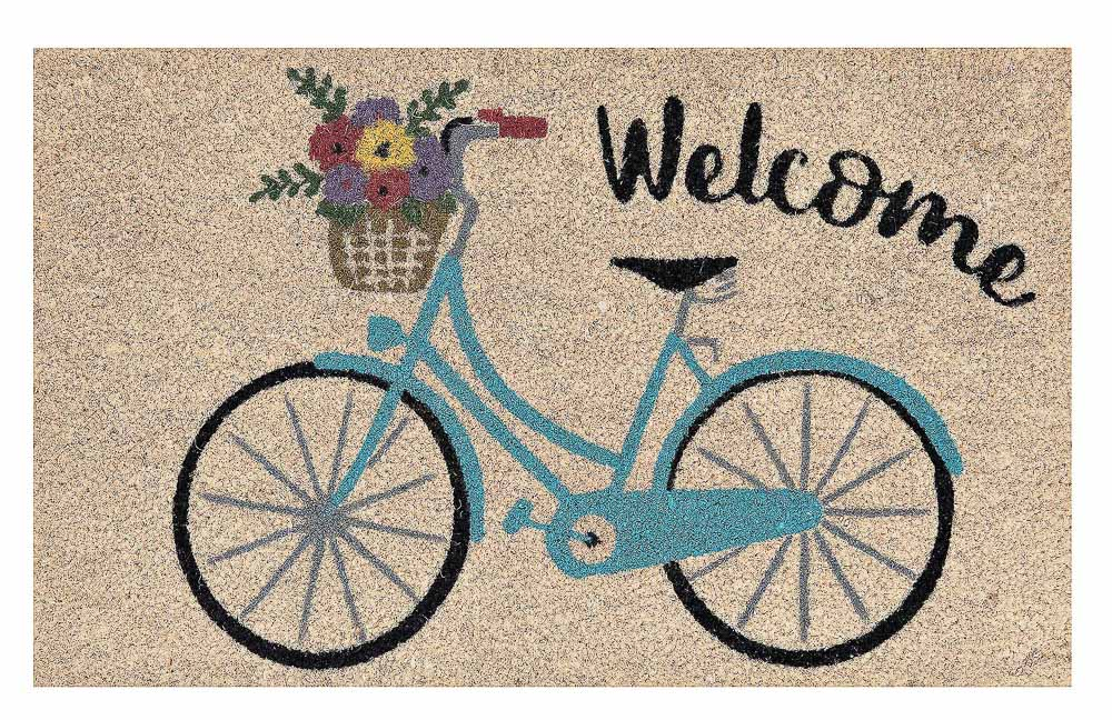 blue-floral-bike-welcome-doormat