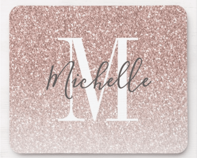 Rose-gold-personalized-mouse-pad