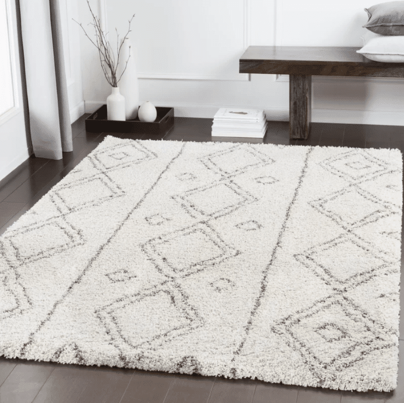 zanzibar-geometric-dark-Brown-Khaki-white-taupe-area-rug-wayfair