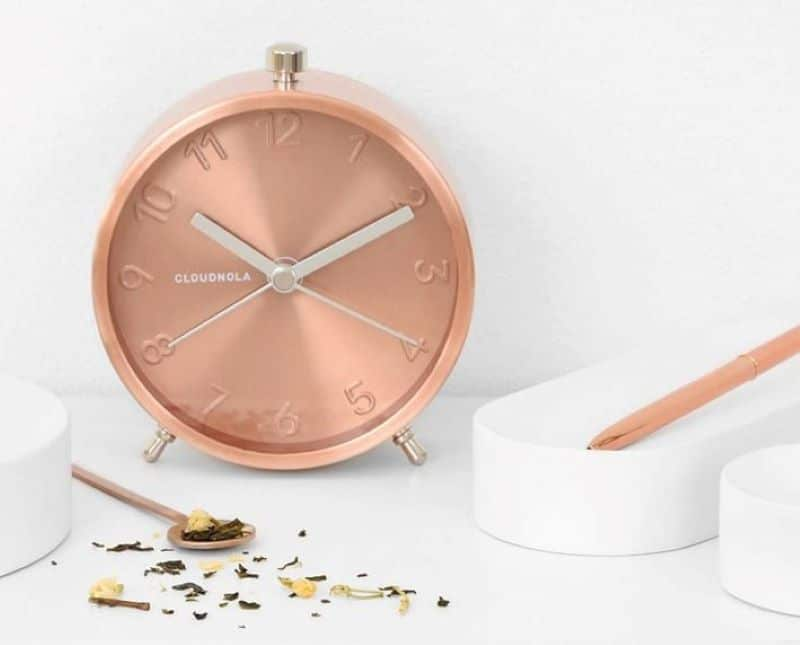 Rose Gold Desk Clock