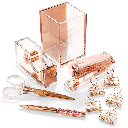 stylish-office-desk-accessories-and-supplies-kit-for-women-rose-gold-10-piece