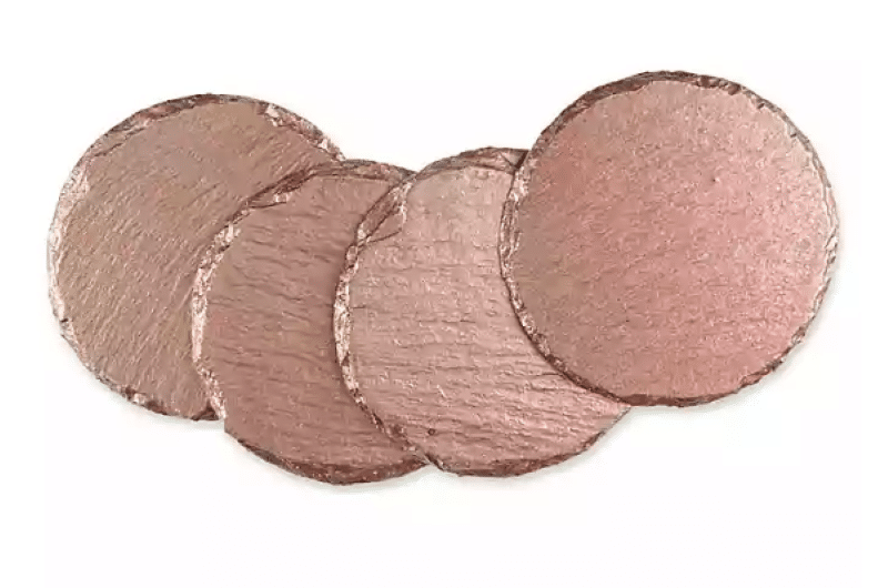 thirstyston-painted-slate-coasters-in-rose-gold-set-of-4