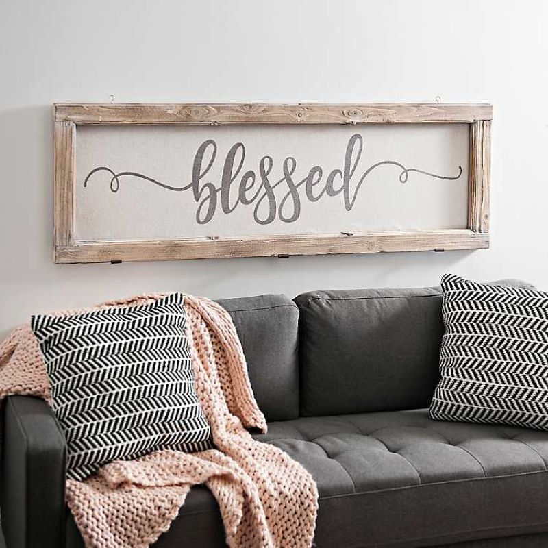 blessed rustic-door-frame-plaque