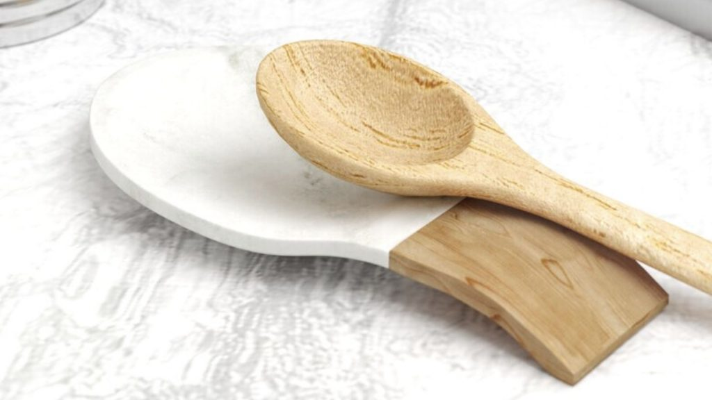 Traditional-Marble-and-Acacia-Wood-Spoon-Rest