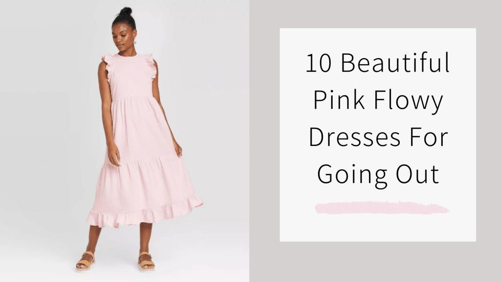 10 flowy pink dresses