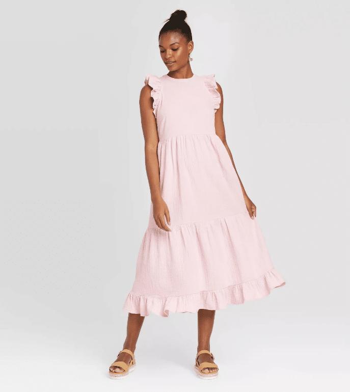 Universal Thread's Sleeveless Tiered Ruffle Dress