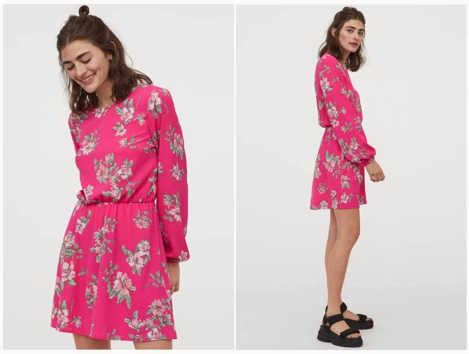 H&M Bright & Bold Creped Dress