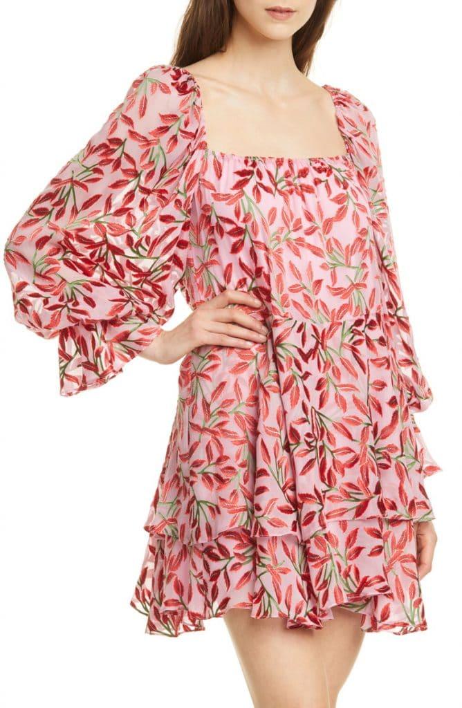 Alice & Olivia's Silk Blend Trapeze Dress