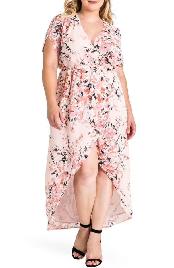 robin wrap maxi dress