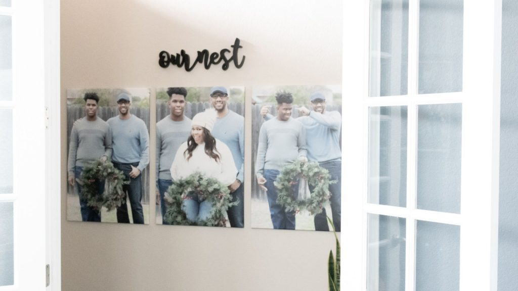 canvas photos in the home