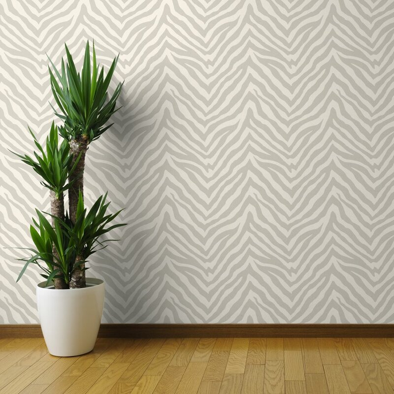 Corrstown Netral Zebra printed wallpaper