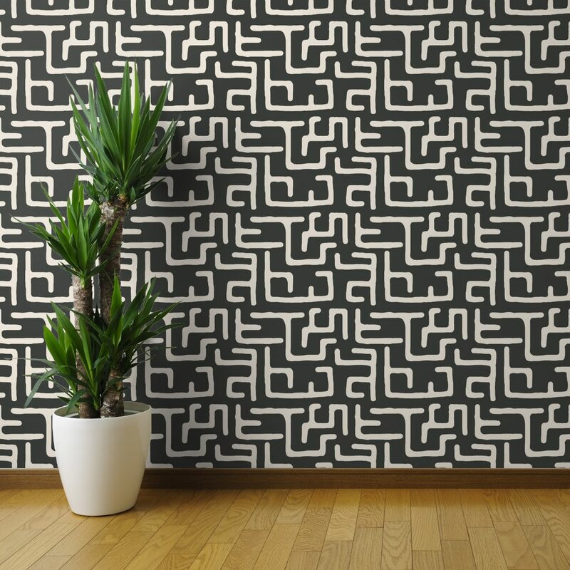 african mudcloth wallpapper design