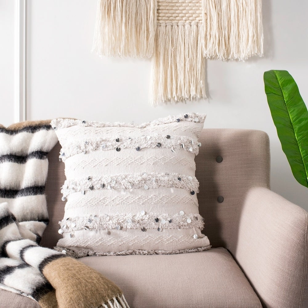 Collette Fringe Sequin Pillow