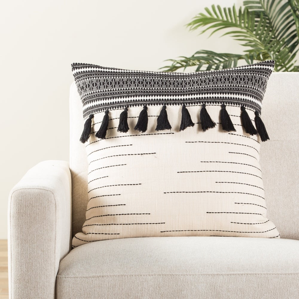 Tribal throw Pillow With Tassels